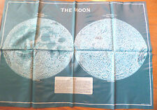 "Vintage Vinyl ""Seas"" of the Moon Poster with Poles and Near/Far Sides Rare!"