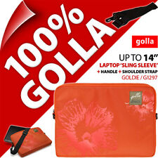 "New Golla 14"" 14.1"" Orange Laptop Sleeve Bag Padded Carry Case + Shoulder Strap"