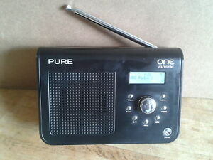 Pure One Classic - DAB/FM Radio with Pause and rewind live feature, Black finish