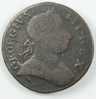 1775 Great Britain George III Non Regal Colonial Half Penny 1/2P