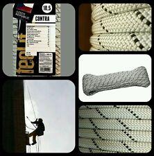 Cuerda escalada semi estatica 10.5mm x 25mts verticales espeleo rappel aventura