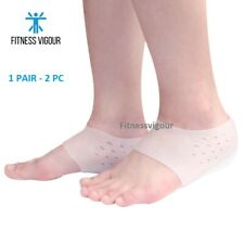 Invisible Height Lift Heel Pads Breathable Sock Increase Insoles Pain Relieve UK