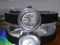 Womens Near Mint Bucherer Jewelled Mechanical Silver Dial Watch. 2 Year Warranty