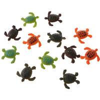 12pcs Small Plastic Animals Turtle Model Figures  Children Preschool Toy
