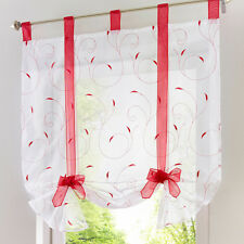 Sheer Kitchen Balcony Window Curtain Liftable Roman Blinds Home Decor DM