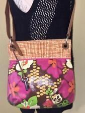 Fossil Floral Coated Canvas CrossBody  Shoulder Handbag