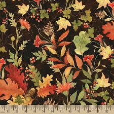 Fall Foliage Autumn Leaves Theme 100% cotton fabric by the yard