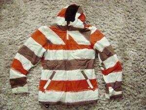 @ Billabong @ Skijacke Winterjacke Size XS Teens Gr. 158 Age 14 weiß-orange-brau