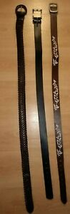 Lot of 3 Belts, Blazer, Sussan, Leather, size medium
