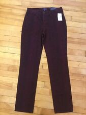 "Not Your Daughter's Jeans NYDJ Maroon Snakeskin  ""Skinny"" Leg Jeans, Size 0 New!"