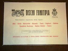 Pubblicità del 1909 Dischi fonotipia per grammofono Soc.Italiana di fonotipia