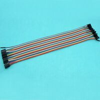 40PCS Female to Female Dupont Wire Pin Connector Cable Line Color 1p-1p 30cm 1P