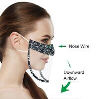 Mund Nasen Visier Transparent Gesichtsmaske Gesichtsschutz Gesichtsvisier Maske