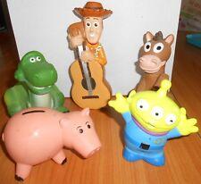 Disney Pixar - Lot de 5 FIGURINES JOUETS DE BAIN TOY STORY WOODY REX ... - F40