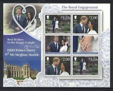 ISLE OF MAN 2018 HARRY AND MEGHAN ENGAGEMENT SHEETLET UNMOUNTED MINT MNH