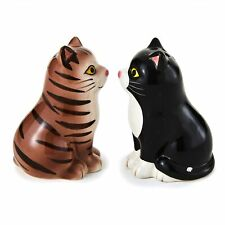 Cat Shaped Salt and Pepper Shakers for Pet Lovers - Set of 2