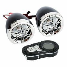 Motorcycle Bluetooth Handlebar Waterproof Speakers Audio System FM Radio MP3