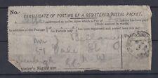 GB QV Certificate Of Posting Parcel Post Label J2217