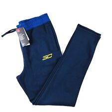 Under Armour Boys Steph Curry Sweat Pants Sz X-Large Navy Blue Logo Athletic