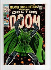 Marvel Super-Heroes #20 VINTAGE Marvel Comic KEY Doctor Doom Solo Special 25c