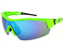 Dirty Dog Occhiali da sole sportivi EDGE FLUORESCENTE VERDE/BLU FUSIONE
