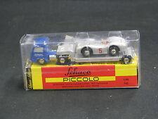 Schuco Piccolo Mercedes-Benz Sattelzug mit tieflader und W196 #5 (JS)