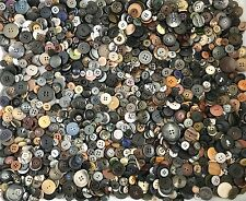 2.25+ lbs Black Grey Brown Buttons Assorted Vintage Antique Collect Crafts Sew D