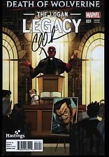 Death Of Wolverine The Logan Legacy #1 Hastings Variant Signed Charles Soule
