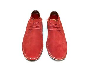 Kenneth Cole Reaction Men's Desert Sun Suede Chukka Boots Red Size 7 M