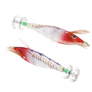 Fishing Squid Jigs Bait Squid Jig Hook Fishing Lure With Luminous Effect(E)B
