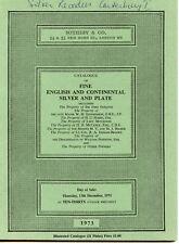Sothebys Catalogue December 1973 Fine English & Continental Silver & Plate