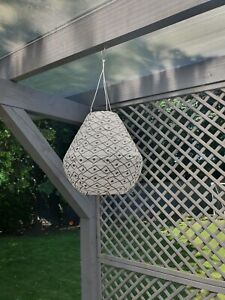 IKEA LED solar powered pendant lamp, outdoor garden wite and black