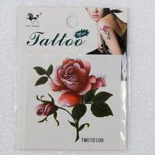 Rose Bloom Flower Blossom Temporary Tattoo Stickers Body Art Flash Tattoos 1pc