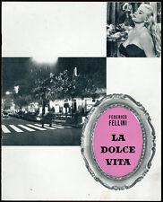 brochure pubblicitaria originale cinema LA DOLCE VITA mastroianni-ekberg FELLINI