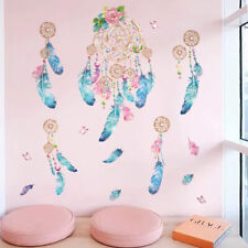 Dream Catcher Wall Sticker Colorful Feathers Art Decal Mural Girls Room Nursery