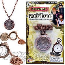 Reloj de bolsillo ENGLAND Viejo Victoriano Steampunk falso Accesorios para Hombre Vestido de fantasía
