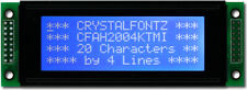 Charakter LCD Modul Display 20x4 Zeichen, 2004, blau, weiß backlight, 0 Ohm