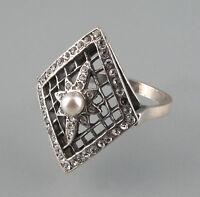 9901141 925er Silber Ring mit Perle und Swarovski-Steinen Gr. 58