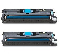 2pk for HP Q3961A Cyan Toner Cartridge 122A Color LaserJet 2820 2840 2550