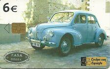 RARE / CARTE TELEPHONIQUE A PUCE - RENAULT 4 CV 1953-1959 / AUTOMOBILE