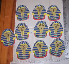 Lot Of 10 King Tut Foam Shapes Self Adhesive