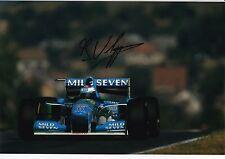 Jos Verstappen Hand Signed Mild Seven Benetton Ford F1 Photo 12x8.