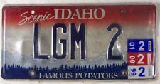 1999-2001 Scenic IDAHO Famous Potatoes Vanity License Plate LGM 2