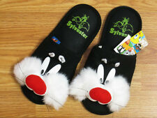 Sylvester Black Slippers NWT Looney Tunes US Size 6-10, UK 4-8