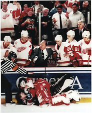 Detroit Red Wings Stanley Cup Goalie Osgood vs Roy 1997 Goalie Fight Colorado