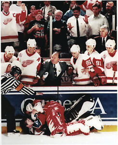 Detroit Red Wings Stanley Cup Goalie Osgood vs Roy 1997 Goalie Fight Colorado
