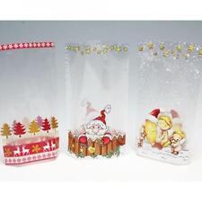 Bodenbeutel 5 Stück 23,5 x14,5 cm mit Weihnachtsmotiv für Gebäck