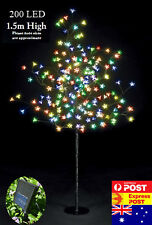 200 LED 1.5M Multi-Colored Cherry Blossom Solar Christmas Outdoor Tree