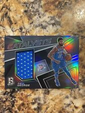 Paul George 2017-18 Panini Spectra Catalysts Patch Silver Prizm 085/199
