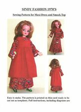 Sindy/Barbie Sewing Pattern for 1970's Maxi Dress and Smock Top